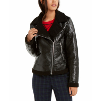 Tommy Hilfiger Women's 'Faux-Fur Trimmed Moto' Jacket