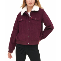 Levi's Women's 'Faux Fur Collar Corduroy Trucker Bomber' Jacket