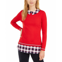 Tommy Hilfiger Women's 'Cotton Layered-Look' Sweater