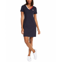 Tommy Hilfiger Robe 'V-Neck Cotton Sheath' pour Femmes