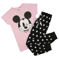 Disney Women's 'Mickey Wink Smile' Pajama Set