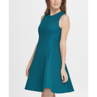 DKNY Women's 'Mesh Fit Flare' Dress