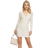G by Guess Women's 'Shimmer Long Sleeve Mini' Dress