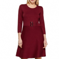 Karl Lagerfeld Paris Women's 'Merlot Fit & Flare  Sweater' Dress