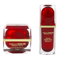 Hollywood Gold 24k Crème visage, Sérum pour les yeux 'Advanced & Reviving Wrinkle Resisting' - 2 Unités