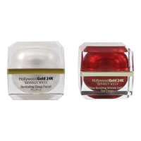 Hollywood Gold 24k 'Restoring Deep & Glow Wrinkle Defying' Eye Cream, Facial peeling - 50 ml, 2 Units