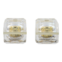 Hollywood Gold 24k Crème hydratante, Crème visage 'Radiance & Revitalizing Renewal Collagen' - 50 ml, 2 Unités