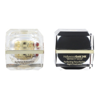 Hollywood Gold 24k 'Radiance & Perfecting Resurfacing' Moisturizing Cream, Night Treatment - 50 ml, 2 Units