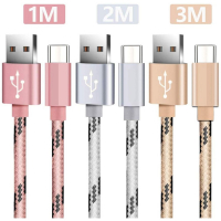 La Coque Francaise USB C Cable for Android - Gold, Pink, Silver 3 Pieces