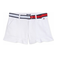 Tommy Hilfiger Big Girl's 'Belted Ruffled' Shorts