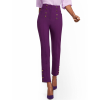 New York & Company Women's 'Button Accent Straight Slim Leg Ankle' Trousers