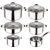 Cook & Chef 'Masterpro Gravity Induction' Cookware set - 11 Pieces