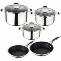 Cook & Chef 'Masterpro Gravity Induction' Cookware set - 8 Pieces