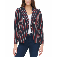 Tommy Hilfiger Women's 'Striped Double-Breasted' Blazer