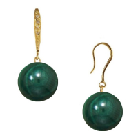 Liv Oliver Women's 'Pave and Malachite' Earrings