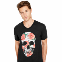Guess T-shirt 'Montell Skull' pour Hommes