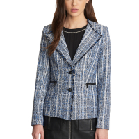 Karl Lagerfeld Women's 'Notch Collar Fringed' Jacket