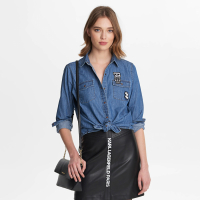 Karl Lagerfeld Women's 'Patched Denim' Shirt