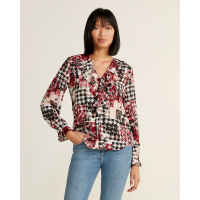Karl Lagerfeld Paris Women's 'Houndstooth' Blouse