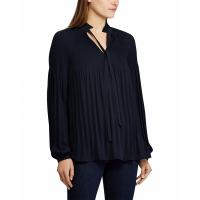 LAUREN Ralph Lauren Women's 'Pleated Tie-Front' Blouse