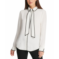 DKNY Women's 'Piped' Blouse