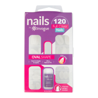 Invogue 'Full Cover Oval' Nail Tips - 120 Pieces