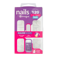 Invogue 'Full Cover Square' Nail Tips - 120 Pieces