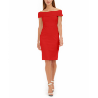 Calvin Klein Women's 'Sheath' Off The Shoulder Dress