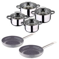 Cook & Chef 'Grey' Cookware set - 10 Units