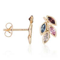 By Colette Women's 'Feuilles Rosées' Earrings