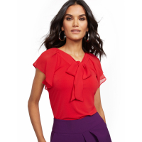 New York & Company Women's 'Tie Front V Neck' Top