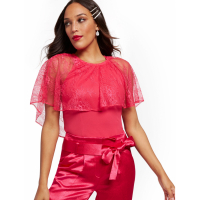 New York & Company Women's 'Lace Overlay' Top