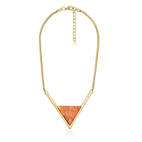 Andaluz Collier 'Triangle Rouge Feu'