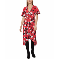 BCBG Max Azria Women's 'Floral-Print Asymmetrical' Dress