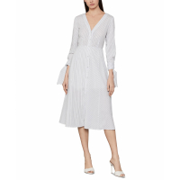 BCBG Max Azria Women's 'Pinstriped' Shirtdress