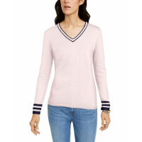 Tommy Hilfiger Women's 'Tipped V-Neck' Sweater