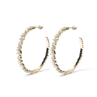 ClassyandFabulous 'Lora Big' Earrings