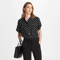 Karl Lagerfeld Women's 'Print Camp' Shirt