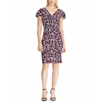 LAUREN Ralph Lauren Women's 'Floral' Short-Sleeved Dress
