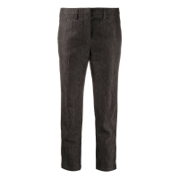 Emporio Armani Women's 'Crinkled Slim-Fit' Trousers