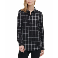 Calvin Klein Women's 'Windowpane Utility' Shirt