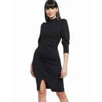 New York & Company Women's 'Button Accent Ruched' Dress