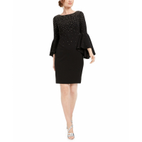 Calvin Klein Women's 'Embellished Bell-Sleeve' Dress
