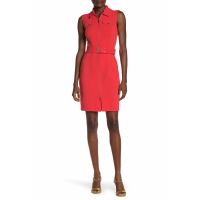 Tommy Hilfiger Women's 'Front Zip Waist Belt' Dress