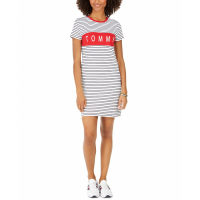 Tommy Hilfiger Women's 'Striped Logo' Shirtdress
