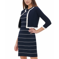 Tommy Hilfiger Women's 'Contrast-Trim Button' Shrug