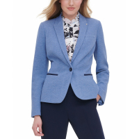 Tommy Hilfiger Women's 'One-Button Elbow Patch' Blazer