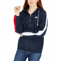 Tommy Hilfiger Women's 'Logo Zip-Up' Windbreaker