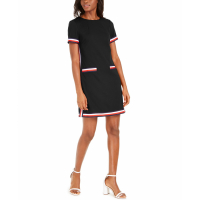 Tommy Hilfiger Women's 'Striped-Trim' Short-Sleeved Dress