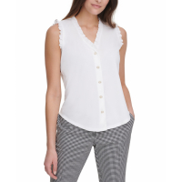 Tommy Hilfiger Women's 'V-Neck Button-Up' Blouse